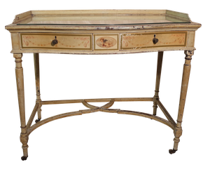 Regency Style Painted Serpentine Fronted Dressing Table