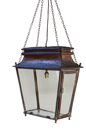 Rectangular Copper Lantern