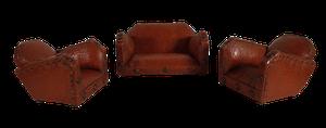 Deco Rexin Dolls House Three Piece Suite