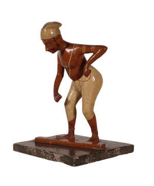 Collection of Handpainted South Indian Wooden Figures of Artisans and Workers