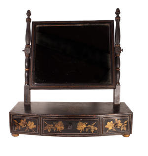 Regency Chinoiserie Toilet Mirror with Three Drawers