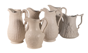 Collection of Seven Parian Jugs
