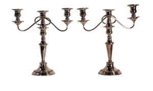 Pair of Plated Candelabra