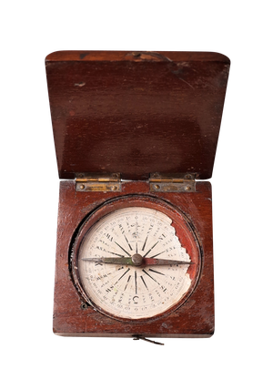 Pocket Compass in Mahogany Case