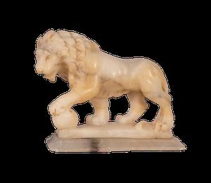 Carved Alabaster Lion