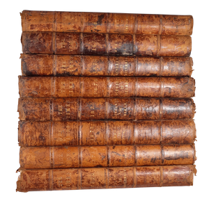 Large Leather Bound Library Volumes of the Times Newspaper