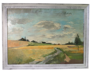 Oil on Canvas of a Picardie Landscape
