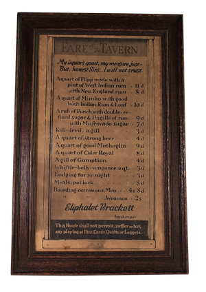 Oak Framed Tavern Tariff