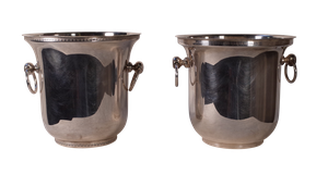 Pair of Plated Champagne Buckets