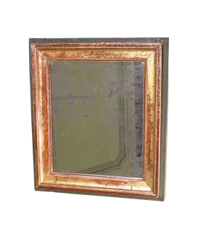 Small Gilt and Painted Framed Mirror