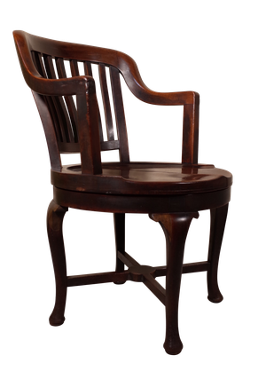 Edwardian Mahogany Splat Back Elbow Desk Chair