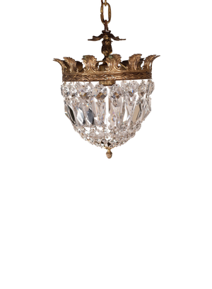 Small Cut Glass Chandelier