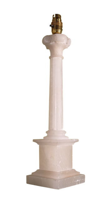 Alabaster Table Lamp Base