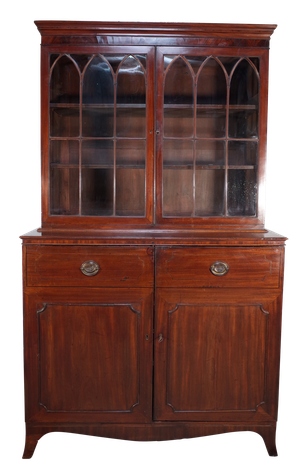 Late George III Mahogany Astral Glazed Bookcase
