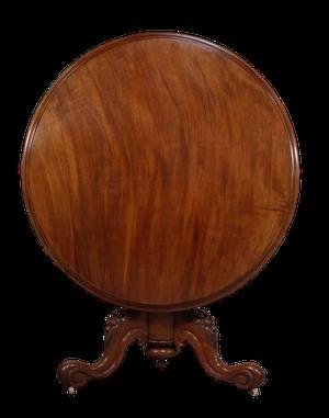 Early Victorian Mahogany Tilt Top Breakfast Table