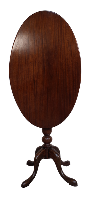 Late George III Oval Mahogany Tilt Top Pedestal Table
