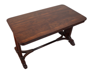 George III Rosewood Library Table