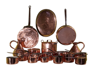 Collection of Country House Copper Pans