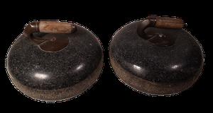 Two Granite Curling Stones
