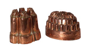 Two Copper Jelly Moulds