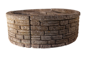 Set of Four Composite Circular Segment Planters by Sandford Stone