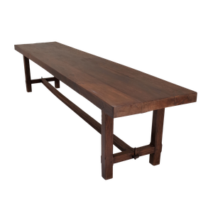 Large Three Plank Oak Dining Table