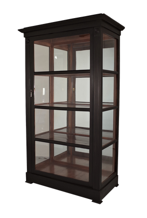 Painted Wooden Glazed Bookcase with Mirrored Back