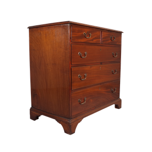 George III Two over Three Mahogany Chest of Drawers
