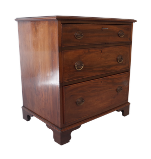 George III Mahogany Three Drawer Chest with Bracket Feet