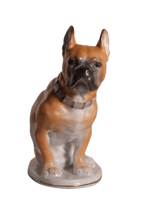 Hand Painted Porcelain French Bulldog