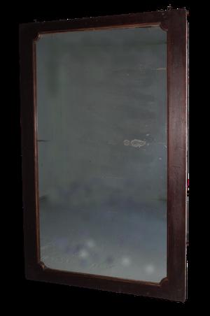 Large Original Mahoganised and Gilt Painted Elm Framed Mirror