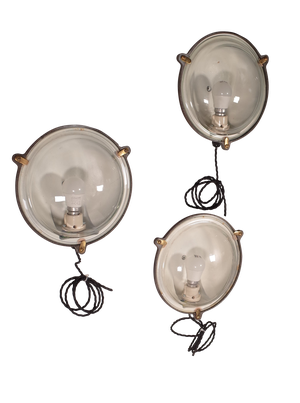 Steel and Glass Bulkhead Lights by the General Electric Company