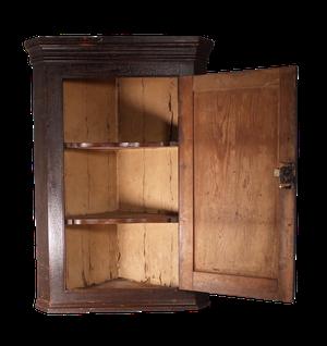 George III Pine Corner Cabinet