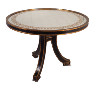 Painted Verre Eglomise Circular Centre Table
