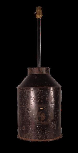 Converted Tole Tea Tin Lamp Base