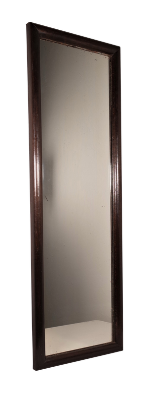 Edwardian Mahogany Rectangular Framed Tailors Mirror from a Gentleman Outfitters