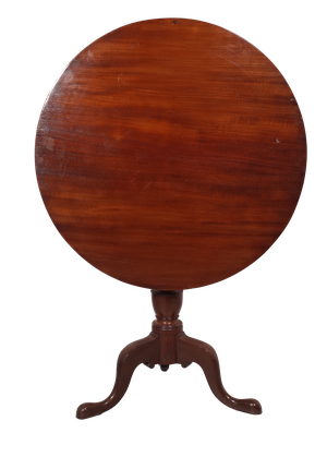 George III Tilt Top Table with Flame Mahogany Top