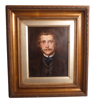 Oil on Board of a Male Portrait in Gilt Frame