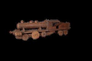 Scratch Built Wooden Model of a Locomotive