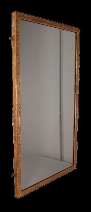 Regency Embossed Gesso and Gilt Mirror