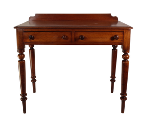 Victorian Mahogany Writing Table with Two Drawers