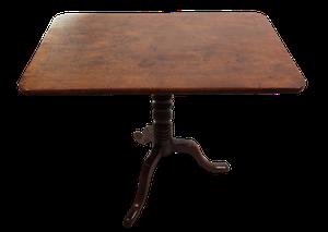George III Mahogany Rectangular Tilt Top Tripod Table