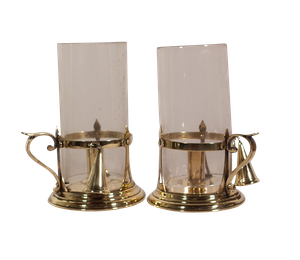 Pair of Storm Lanterns in the Style of W.A.S Benson