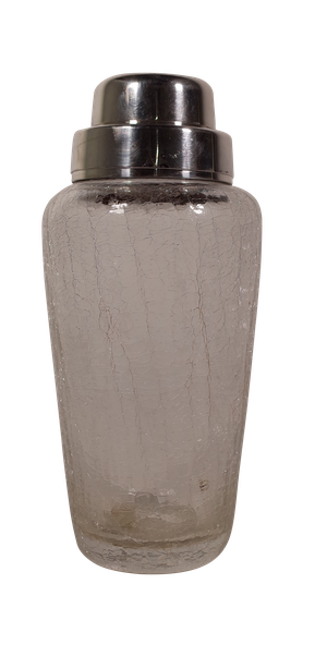 Crackle Glass Cocktail Shaker