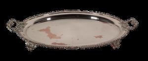 Sheffield Plate Platter on Four Scrolled Feet