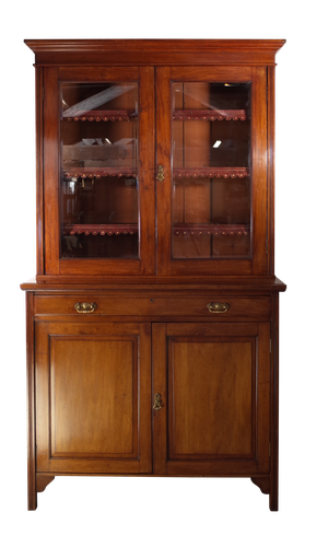 Glazed Mahogany Bookcase