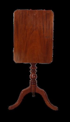George III Rectangular Mahogany Tilt Top Tripod Table