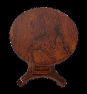 Late George III Rosewood Pedestal Table