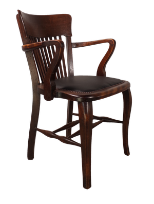 Leather Seated Clerks Chair