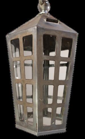 Steel and Chrome Hexagonal Lantern